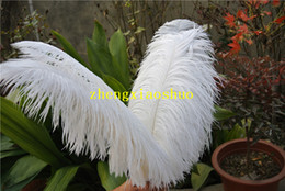 $enCountryForm.capitalKeyWord Australia - 50pcs white Ostrich Feather Plume for Wedding prom centerpiece christmas feather decor wedding home table decor party supply