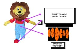 $enCountryForm.capitalKeyWord Australia - Custom lion Mascot Costume add a logo T-shirts and shoes are orange
