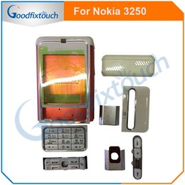 Keyboard For Lg Australia - For Nokia 3250 Back Battery Cover Rear Cover Glass Housing Case With Keypad Keyboard Replacement