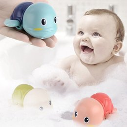 turtle toy bath 2020 - Funny Baby Bathing Playing In The Water Cute Little Turtle Cartoon Turtle Clockwork Wind Swimming Turtle Toy Bath Toys c