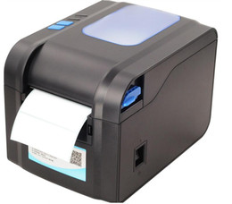 black and white printer Canada - XP-370B barcode printer self-adhesive QR code label thermal ticket machine