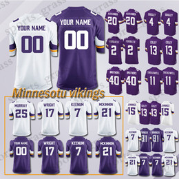 644c4efb3 custom Game Minnesota Viking Jersey 82 Rudolph 99 Danielle Hunter 28 Adrian  Peterson 97 Everson Griffen 54 Kendricks 56 Doleman Jerseys