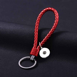 leather snap keychain Australia - Pu Leather Key Rings 025 Colorful Keychain Interchangeable Jewelry 18mm snap button Key Rings Christmas Gifts For Women Charm Jewelry