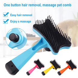 New Dog Cat Hair Brush Fur Shedding Trimmer Grooming Rake Professional Comb Brush good quality hot