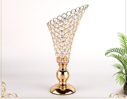 $enCountryForm.capitalKeyWord NZ - crystal candlestick flowers vase candle centerpieces gold candlestick for candles retro wedding Candlebra candle stand holder home ornament
