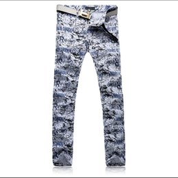 $enCountryForm.capitalKeyWord NZ - Pop2019 Personality Pattern The Spring And Summer. Man Wash Printing Self-cultivation Trend Directly Cuffless Trousers Charm Time Jeans