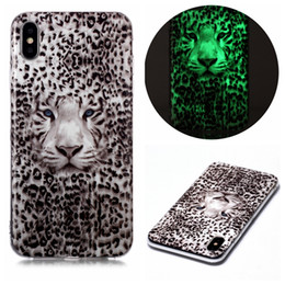 case for samsung galaxy leopard NZ - Luminous Soft TPU Case For Iphone 11 Pro Max XR XS MAX 8 7 Plus 6 SE 2020 Wolf Tiger Butterfly Flower Lace Cat Leopard Glow In Dark Covers