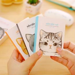 $enCountryForm.capitalKeyWord Australia - Korean Stationery Cute Cat Writing Pad Mini Paper Notebook Creative Words Portable Notebook Office & School Supplies