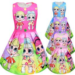 Stage Shirts Australia - T shirt Short Skirt Set New Cartoon Girls Short sleeve Stage Suit Party Dress Summer Children's Wear Kids Outwear Top Girl's Clothing 8710