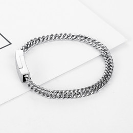 punk male chains UK - Stainless Steel Chain Bracelet for Men Buddha Braclets & Bangles Male Female Hip Hop Party Punk Rock Jewelry