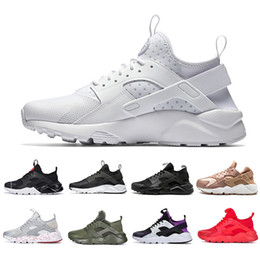 Dark reD huaraches online shopping - 2019 White Dot Cheap Huarache IV Running Shoes Classic Triple Black red men women Brand Huaraches sports Sneakers
