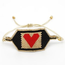 Accessories lucky online shopping - SHINUSBOHO Friendship Bracelets MIYUKI Pulseras Men Red Heart Bracelet Mujer Moda Lucky Jewelry Delicas Women Accessories