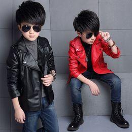 $enCountryForm.capitalKeyWord Australia - New style boys PU leather jacket spring autumn fashion coats for boys children spring outerwear coat kids clothes baby boys coat