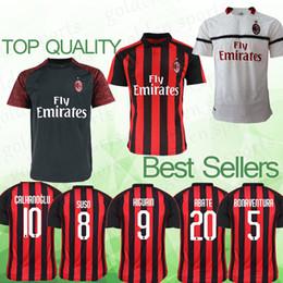 5ed4f3827 Jersey soccer clothing online shopping - AC Milan jersey BONAVENTURA  HIGUAIN BAKAYOKO CUTRONE CALABRIA J MAURI