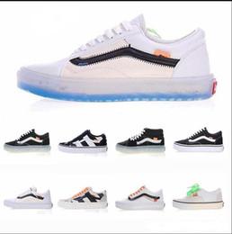 f57d464646e 2018 vans old skool Rainbow canvas Casual Running Sneakers Men Shoes Best  Quality Black Colorful Soles men women Skateboarding Shoes