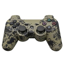 Chinese  Game Controller Wireless Gamepad Bluetooth for PS3 2.4GHz Double Shock for For playstation 3 PS3 Joysticks gamepad with Boxes free shipping manufacturers