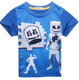 $enCountryForm.capitalKeyWord Australia - DJ marshmello T-shirt Short Sleeves Tee Shirt Tops round Neck cartoon 3d printed T-shirt children's 5-12T home casual clothes