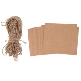 PaPer twine online shopping - Pack of Kraft Paper Blank Plain Place Name Card Wedding Reception Party Table Card Twine Bow