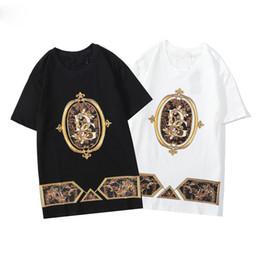 Wholesale money print shirts online – design Mens Fashion Designer Money Letter Print T Shirts Short Sleeve Tshirt Designer Duck Tees Males Fashion Loose Streetwear Tees Tops