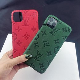 phone case trends 2020 - Fashion trend red and green imprint phone cover case for iphone 6 6s 7 8 8plus for iphone x xr xs max for iphone 11 11 p