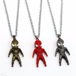 $enCountryForm.capitalKeyWord Australia - Cartoon Film Superhero Spiderman Pendant Necklace New Arrival Movie Spiderman Three-Dimensional Cartoon Character Memorial Pendant Necklace