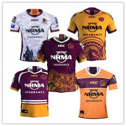 Venta al por mayor de BRISBANE BRONCOS ANZAC Jersey redondo de rugby 2019 2020 Camiseta de rugby de la Liga Nacional Jersey de rugby de Brisbane Broncos s-3xl