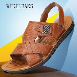 $enCountryForm.capitalKeyWord Australia - high quality sandalias 2018 men sandals summer leather shoes men outdoor shoes big size beach sandals Flip Flops zapatos hombre