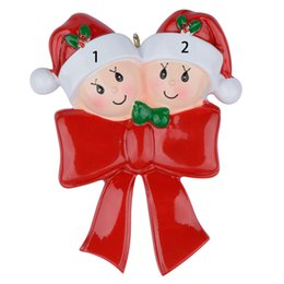 $enCountryForm.capitalKeyWord Canada - Baby Bow Family Of 2 3 Resin Christmas Tree Ornaments Personalized Gifts Write Own Name For Holiday Home Decoration