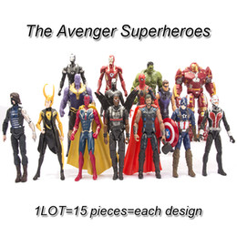 spiderman toys doll 2019 - marvel avengers action figures toys 15 pieces lot PVC Avengers Superheroes iron man spiderman anime figure dolls boys ki