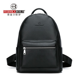 $enCountryForm.capitalKeyWord Australia - Genuine Leather Men's Backpack Fashion Cow Leather Backpacks College School Men Bag Fashion Black Large-Capacity Travel BackpackMX190903