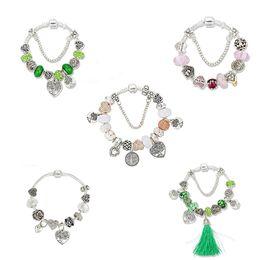 Glasses Ideas Australia - designer women bracelets charms bracelet life tree charms love beads bracelets tassel glass crystal beads bracelet women gifts idea