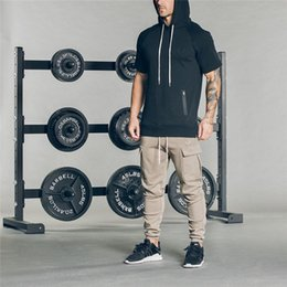 skinny trousers NZ - Men Gyms Sport Joggers Running Pants Elastic Cotton Men's Fitness Bodybuilding Workout Skinny Sweatpants Trousers Jogger Pants