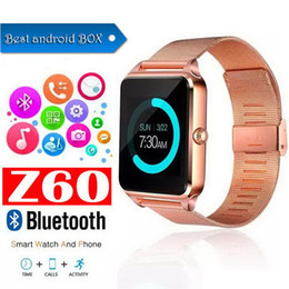 $enCountryForm.capitalKeyWord Australia - Bluetooth Smart Watch Z60 Wireless Smart Watches Stainless Steel For IOS Android Support SIM TF Card Camera Fitness Tracker with Retail Box