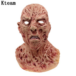 $enCountryForm.capitalKeyWord Australia - New Hot Fun Realistic Adult Party Costume Horror Mask Deluxe Freddy Krueger Mask Scary Dance Carnival Cosplay Zombie Mask