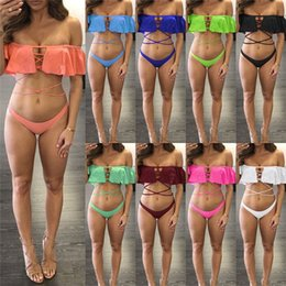 c36342974f7f8 P women s bikini swimwear 2019 Letter Print Brand designer swimsuit women  clothing 2 piece Shorts set Plus size swim shorts tracksuit A32606