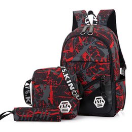Kids Book Sets Australia - 3pcs sets New Children School Bags Set Camouflage Kids Backpack Girls Boys Primary Student Book Bag Elementary Schoolbags Y190530