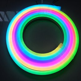 Neon Controller Australia - free shipping,with led digital controller 10W M DC12V IC buil-in full color led type 60pixels per meter led neon light color changeable