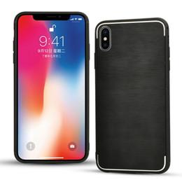 911221c17db Aleación de aluminio cepillado caja del teléfono celular para iPhone XS Max  XR X 8 7 Plus a prueba de golpes híbrido protector polaco metal duro  cubierta de ...