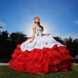 newest quinceanera dresses Australia - Newest Embroidery Quinceanera Dresses 2019 Applqiues Beads Sweet 16 Prom Pageant Debutante Formal Evening Prom Party Gown