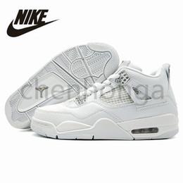 36017c38222 Nike Air Jordan Retro 4 Man Basketball Shoes Jordans Airs Retros IV 4s Motorsport  Raptor Black Red Toro oreo Athletic Sport Sneakers Pure White New Arrival  ...