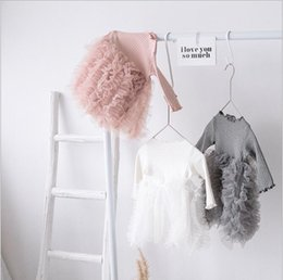 $enCountryForm.capitalKeyWord NZ - Gauze Peng Dress Princess Spliced Screen Skirt Girl's Dresses Girl Knitted Dresses 2019 Spring new Fairy Dress