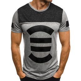 4bd334174 Plus Size T-Shirts 2019 Summer Mens Clothing Striped Print Casual Short  Sleeve Tee Top Fitness Tshirts Streetwear Male T-shirts