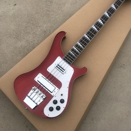 custom basses china NZ - Custom RIC 4 Strings Metallic Red 4003 Electric Bass Guitar Chrome Hardware Triangle MOP Fingerboard Inlay Awesome China Guitars