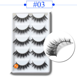 $enCountryForm.capitalKeyWord Australia - 5Pairs Set Handmade Fiber False Eyelashes Thick Long Layered Wispy Party Fluffy Eye Lashes Beauty Makeup Extension Tools