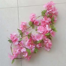 Fake lilies Flowers online shopping - Sakura Cane Vine Simulation Lily Artificial Lotus Indoor Fake Mandala Door Decoration Garlands Birthday Party Silk Flowers Dense xsb1