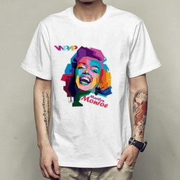 $enCountryForm.capitalKeyWord Australia - Marilyn Monroe t shirt Classic head portrait short sleeve Hot woman fadeless tees Leisure white colorfast clothing Pure color modal Tshirt