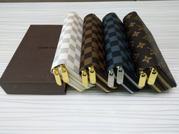 Free Style Wallets NZ - Free shipping !!! Classical style PU Leather mens and womens Double zipper wallets purse card Holders ( 4 color for choose )