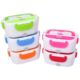 Heated luncH box online shopping - Electric Heating Lunch Box Portable Kids Food Container Thermos Lunchbox Bento Box With Cutlery Home Office Eu Us Plug Y19070303