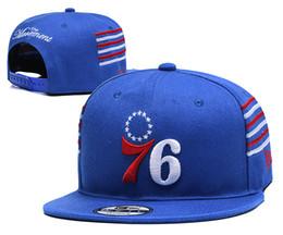 Hat Two Balls Australia - Mens P 76ers Wihte Royal Red Black Logo Two-Tone Snapback Ball Caps Adjustable Hat 03