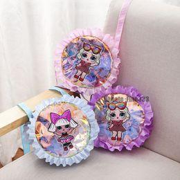 $enCountryForm.capitalKeyWord Australia - Designer Bags LOL Kids Girls Surprise Dolls Laser Crossbody Bag Cartoon Mini Coin Purse Messenger Bags 6 Colors Christmas Gifts 2019